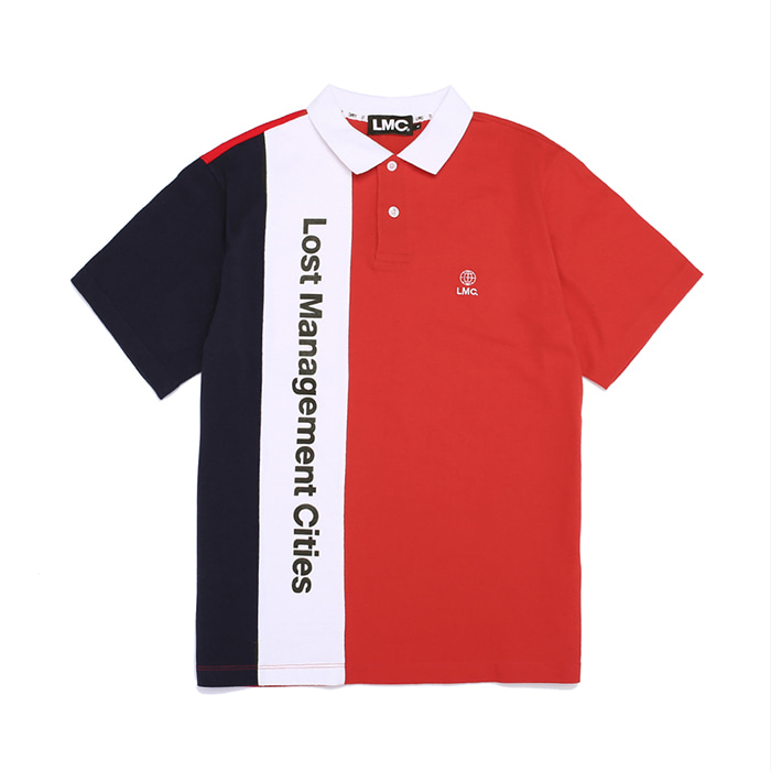 엘엠씨 LMC VERTICAL LOGO PK POLO TEE // red