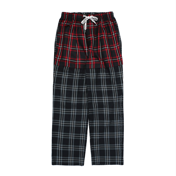 엘엠씨 LMC PLAID SUIT PANTS // black