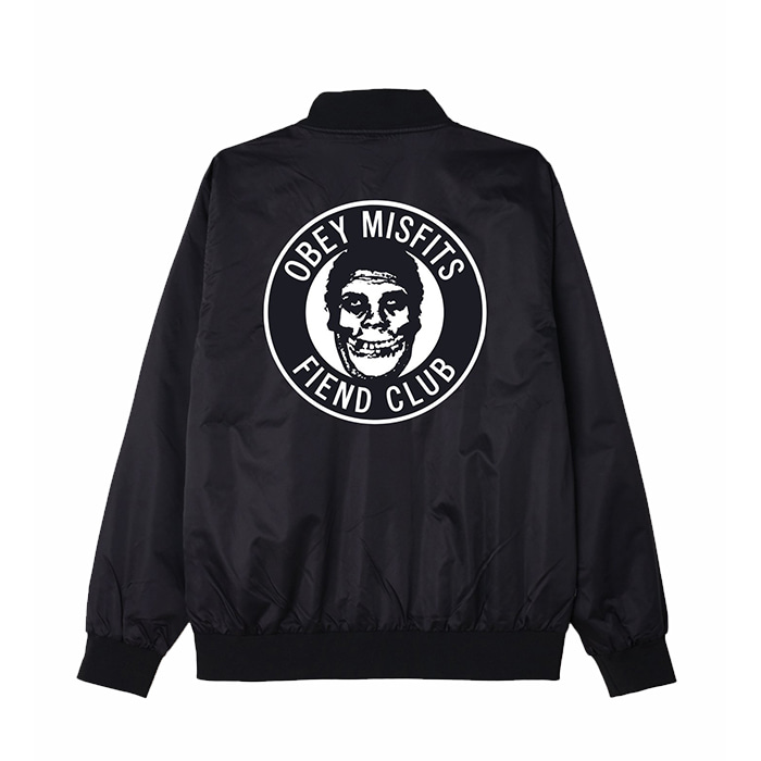오베이 MISFITS SATIN JACKET // BLACK