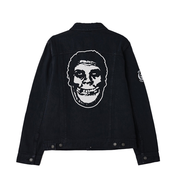 오베이 MISFITS DENIM JACKET // BLACK