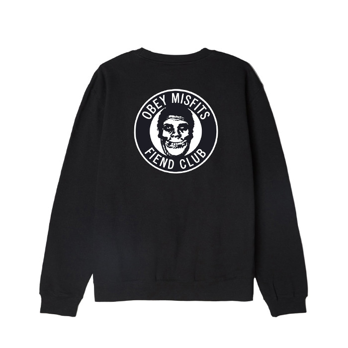 오베이 THE OBEY FIEND CLUB CREW NECK // BLACK