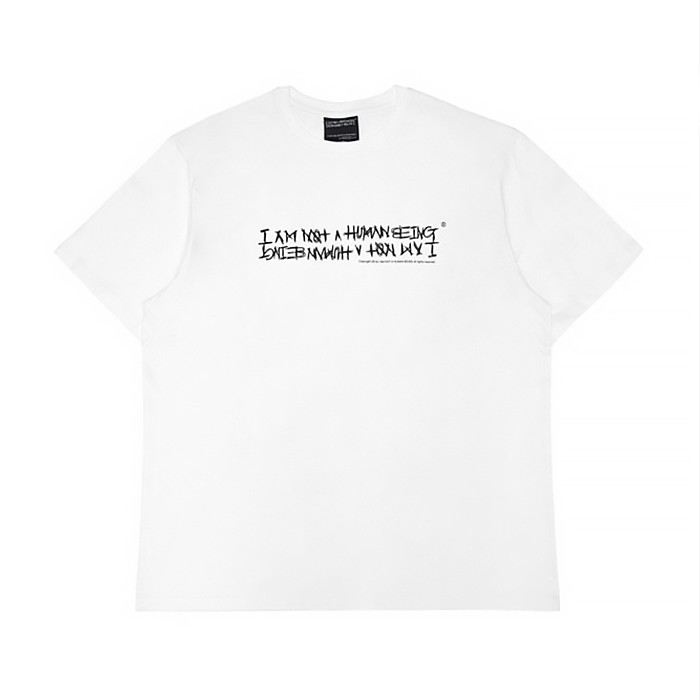아임낫어휴먼비잉 NEW BASIC LOGO T-SHIRT / WHITE