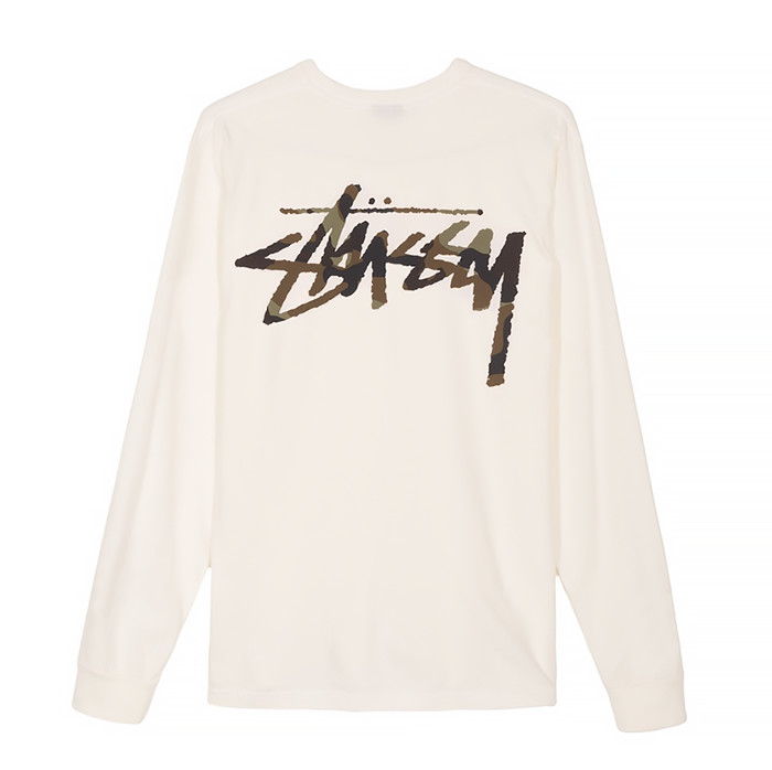 스투시 OLD STOCK LS TEE / WHITE