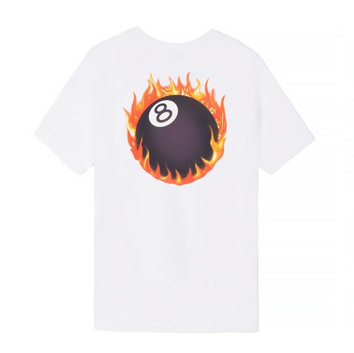스투시 FIREBALL TEE/WHITE