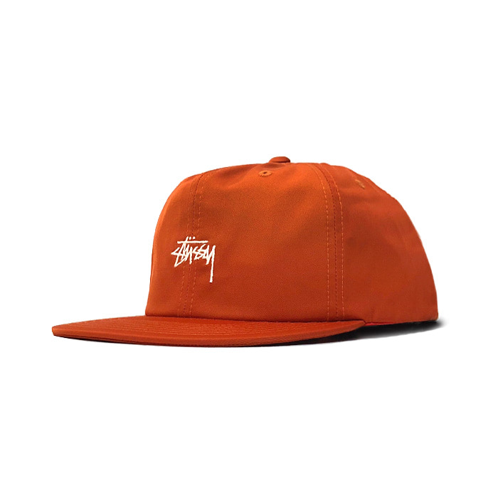 스투시 STOCK POLY COTTON CAP/ORANGE