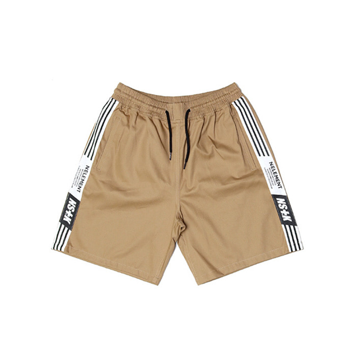 네스티킥 NLMT LINE SHORT PANTS/BEIGE