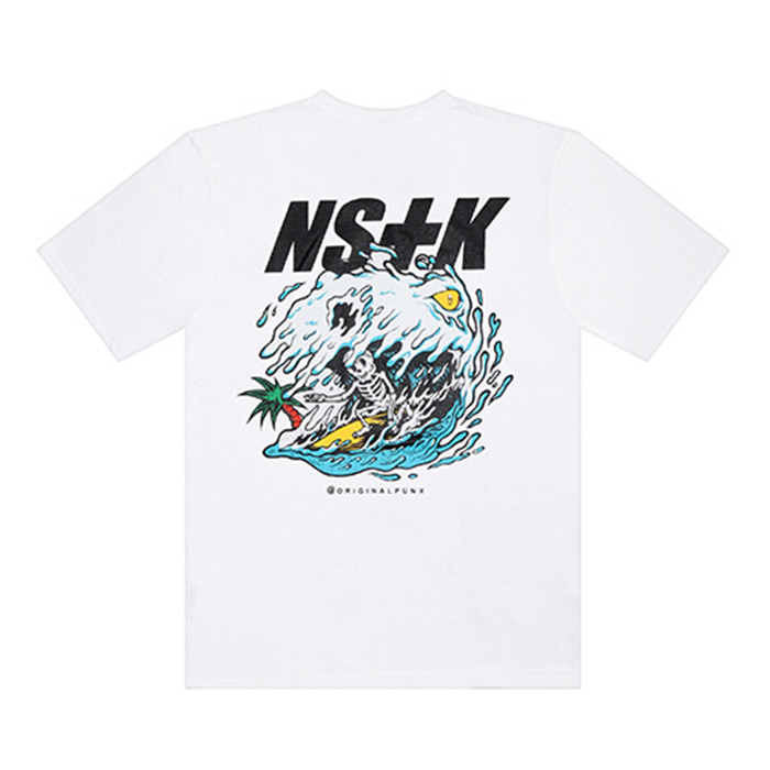네스티킥 PUNK WAVE TEE/WHITE
