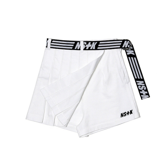 네스티킥 NASTY WRAP TENNIS SKIRT PANTS/WHITE