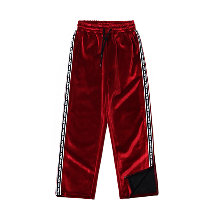 네스티팬시 LINE VELVET ZIPPER PANTS/BURGUNDY