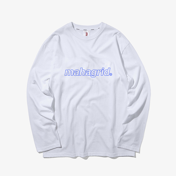 마하그리드 OUTLINE L/S TEE/WHITE
