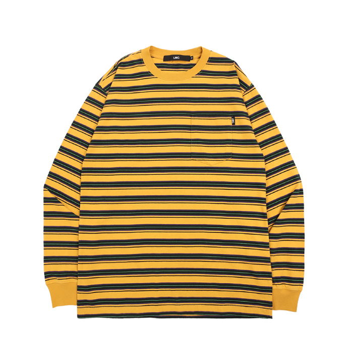 엘엠씨 롱슬리브 LMC MULTI STRIPE POCKET LONG SLV TEE/YELLOW