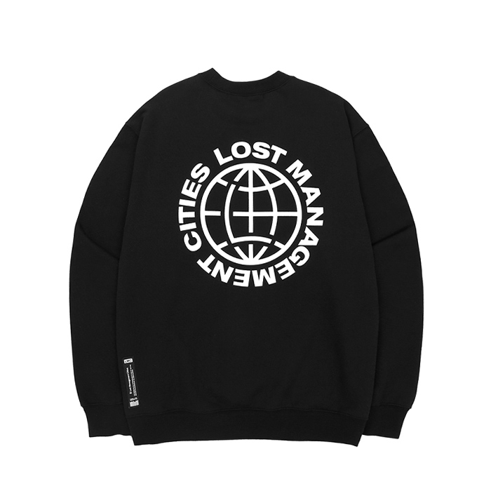 엘엠씨 맨투맨 LMC WHEEL LOGO SWEATSHIRT/BLACK