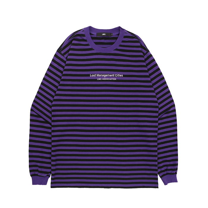 엘엠씨 롱슬리브 LMC ASSOCIATION STRIPE LONG SLV TEE/PURPLE