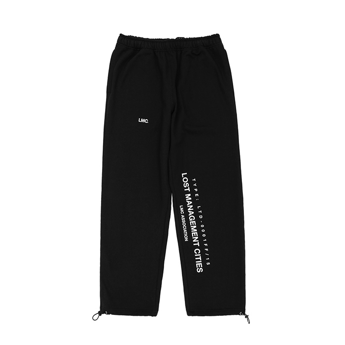엘엠씨 바지 LMC ASSOCIATION SWEAT PANTS/BLACK