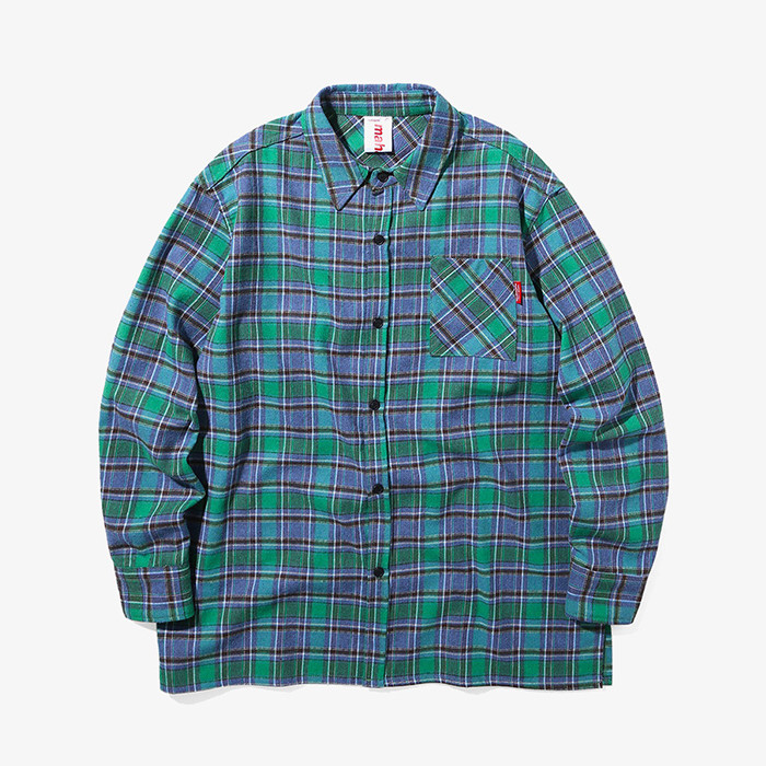 마하그리드 셔츠 OUTLINE CHECK SHIRT/GREEN