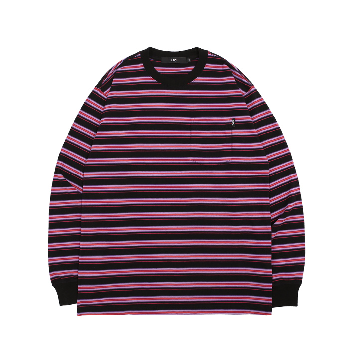 엘엠씨 롱슬리브 LMC MULTI STRIPE POCKET LONG SLV TEE/PURPLE