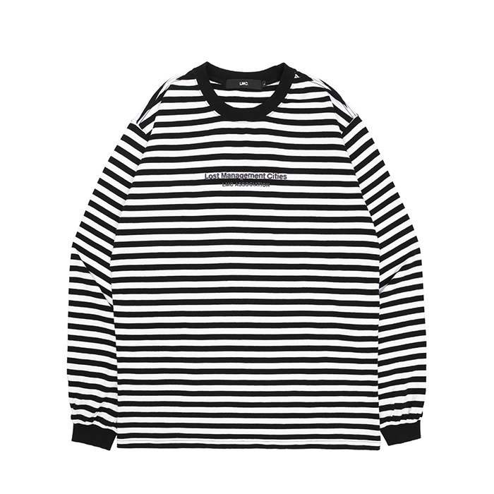 엘엠씨 롱슬리브 LMC ASSOCIATION STRIPE LONG SLV TEE/BLACK