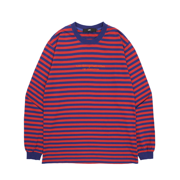엘엠씨 롱슬리브L MC ASSOCIATION STRIPE LONG SLV TEE/RED