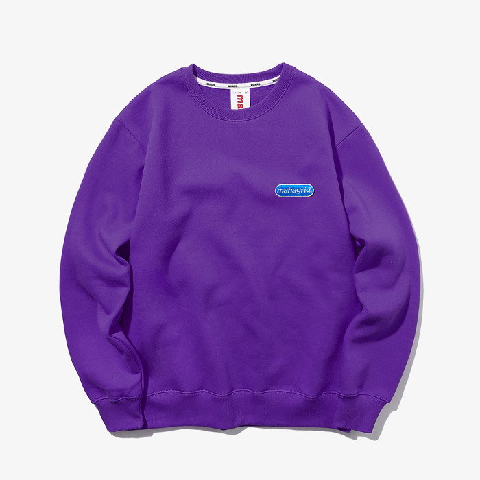 마하그리드 맨투맨 SMALL ARCLOGO CREWNECK/PURPLE