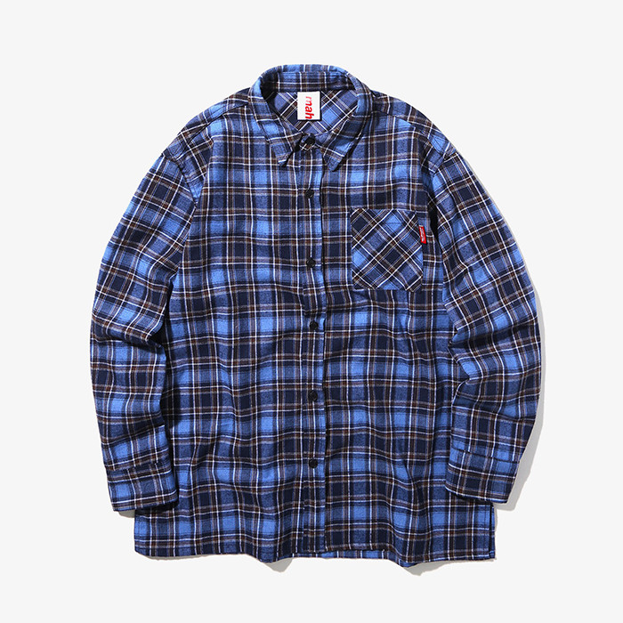 마하그리드 셔츠 OUTLINE CHECK SHIRT/BLUE