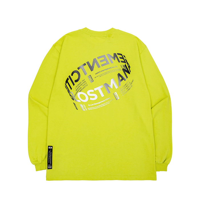엘엠씨 롱슬리브 LMC RING LOGO LSV SWEAT TEE/LIME