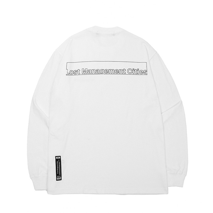 엘엠씨 롱슬리브 LMC FN BAR LOGO LONG SLV TEE/WHITE