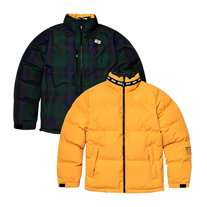 네스티킥 패딩 MAZE REVERSIBLE DOWN JACKET/YELLOW (NK18A002H)