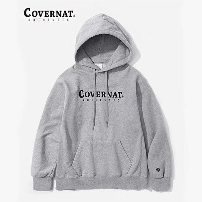 커버낫 AUTHENTIC LOGO HOODIE GRAY
