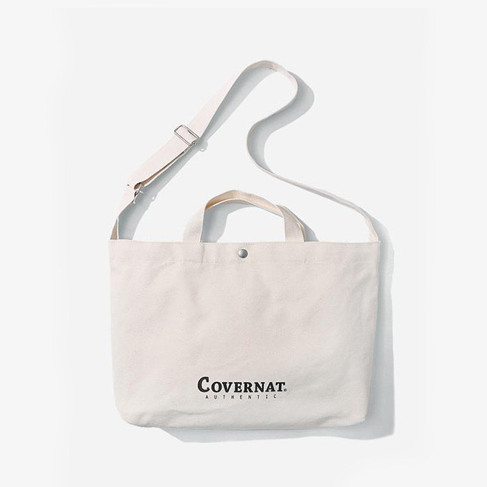 커버낫  AUTHENTIC LOGO 2WAY BAG IVORY