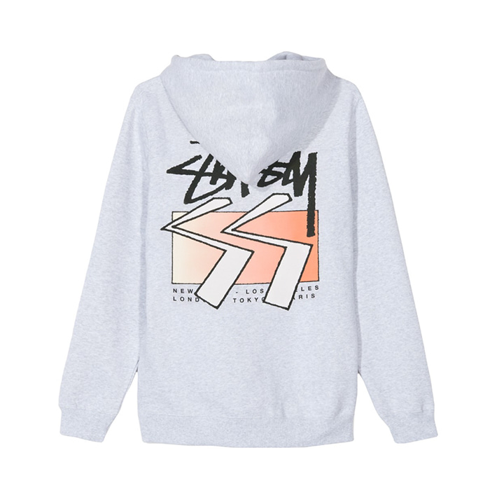 스투시 후드티 SS CUBE HOOD/ASH HEATHER