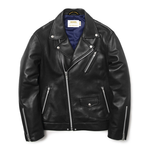마하그리드 W RIDERS JACKET(LAMBSKIN)/BLACK