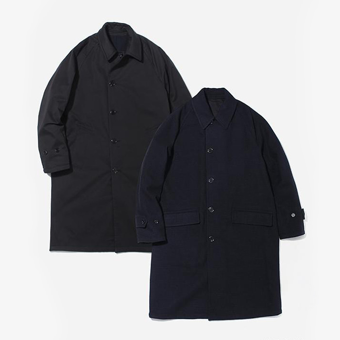 커버낫 WOOL REVERSIBLE COAT BLACK