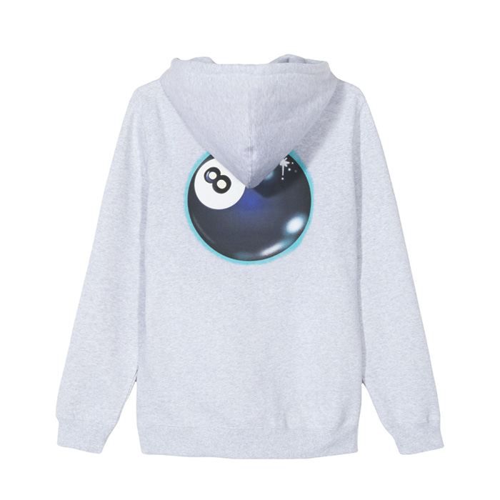 스투시 후드티 MYSTIC 8 BALL HOOD/ASH HEATHER