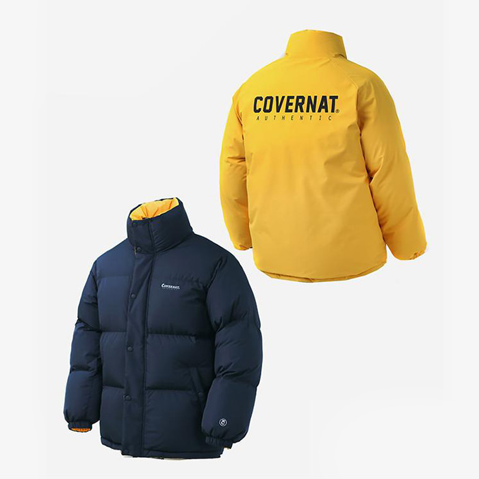 커버낫 패딩 REVERSIBLE DUCK DOWN PUFFER PARKA YELLOW