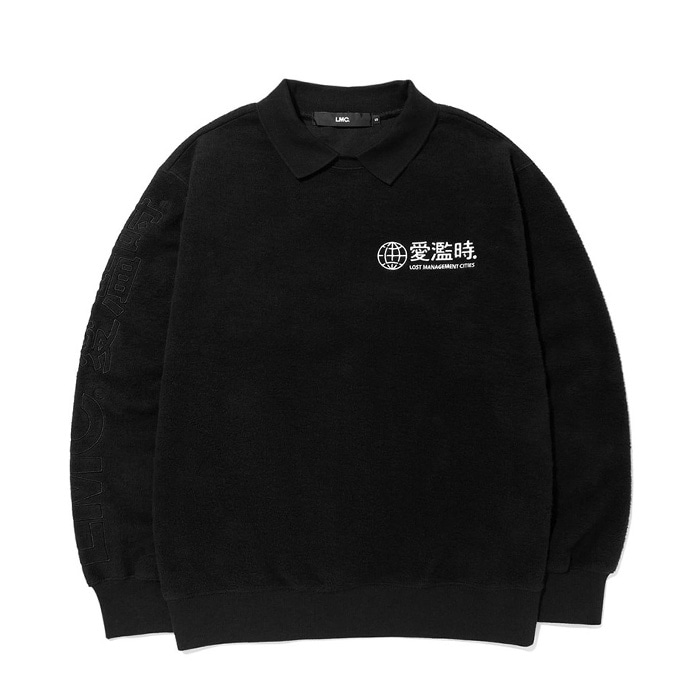 엘엠씨 LMC COLLAR SWEATSHIRT black