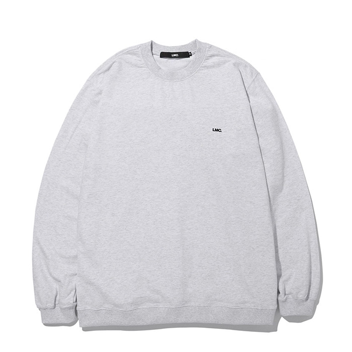 엘엠씨 LMC STRAIGHT RIB SWEAT TEE heather gray
