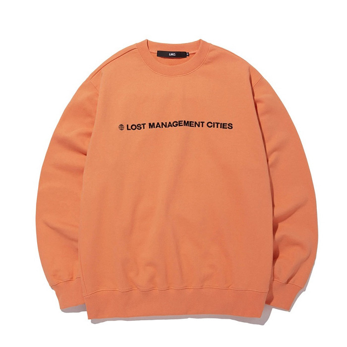 엘엠씨 LMC CAPITAL LOGO SWEATSHIRT salmon