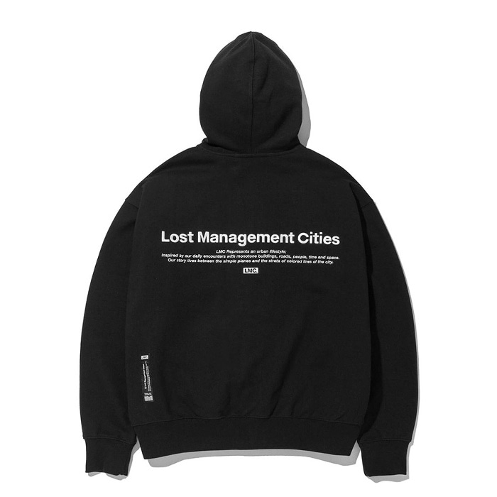 엘엠씨 LMC OG LOGO ZIP-UP HOODIE black