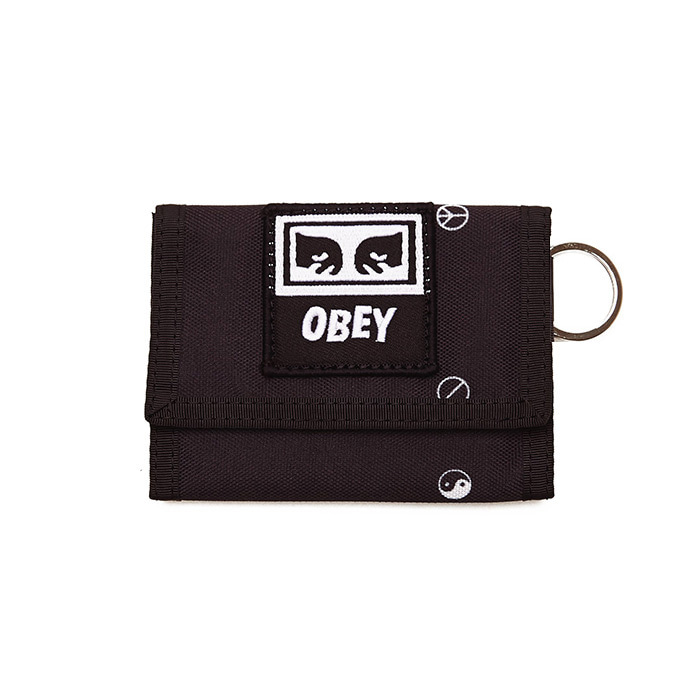 오베이 지갑 DROP OUT TRI FOLD WALLET/SYMBOL BLACK MULTI