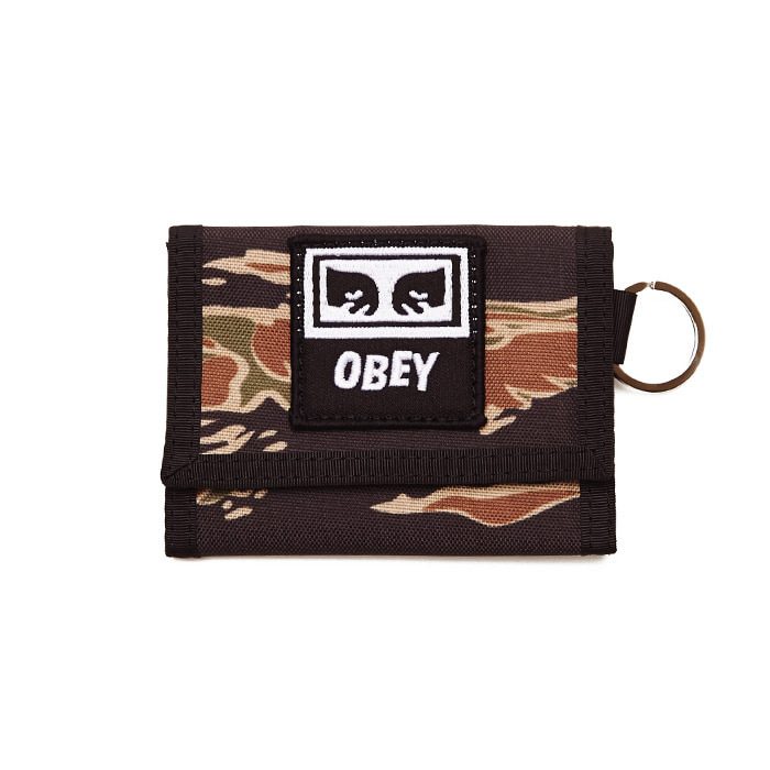 오베이 지갑 DROP OUT TRI FOLD WALLET/TIGER CAMO