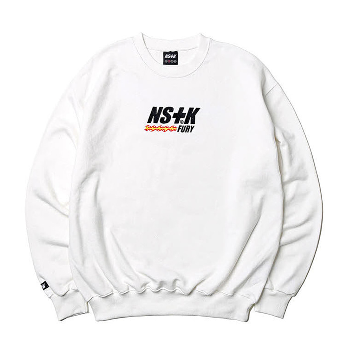네스티킥 맨투맨 LIKE FURY V2 SWEATSHIRTS WHT (NK19S022H)