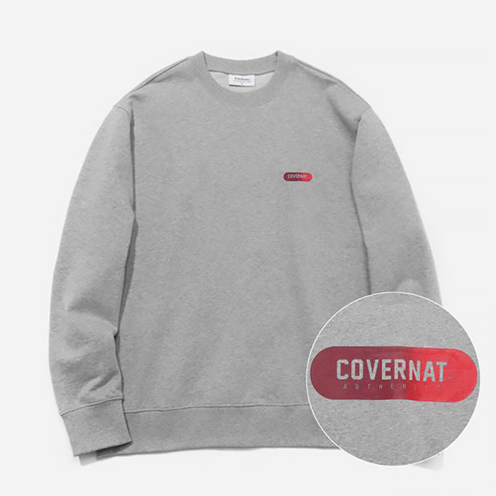 커버낫 맨투맨 GRADATION JERSEY LOGO CREWNECK/GREY