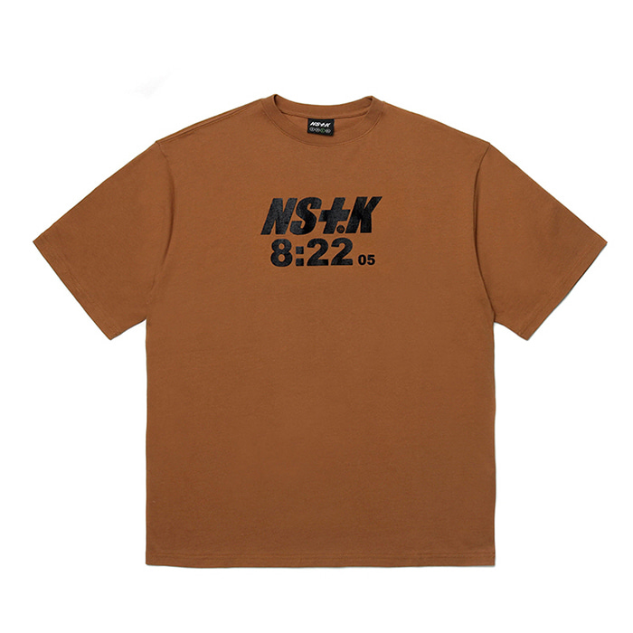 네스티킥 티셔츠 NSTK 822 SPLIT TEE BROWN (NK19S005H)
