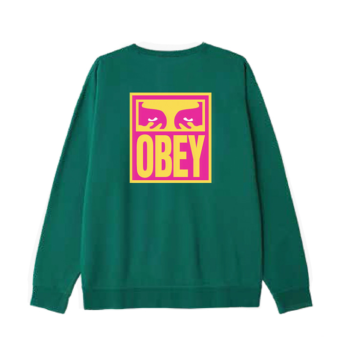 오베이 맨투맨 OBEY EYES ICON 2 CREW NECK/ALPINE