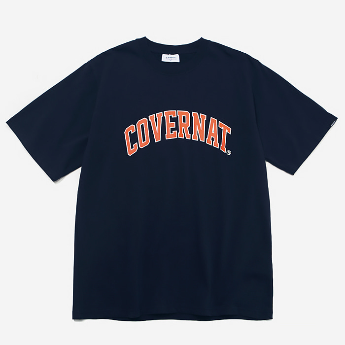 커버낫 티셔츠 S/S ARCH LOGO TEE NAVY/ORANGE