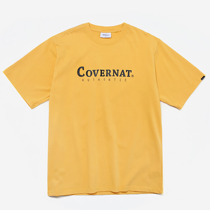 커버낫 티셔츠 S/S AUTHENTIC LOGO TEE YELLOW