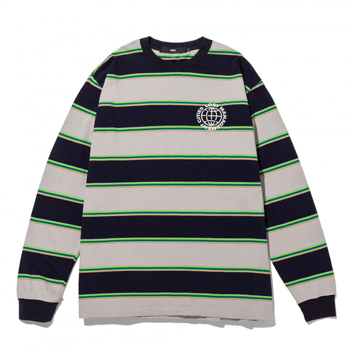 엘엠씨 롱슬리브 LMC MULTI COLOR BOLD STRIPE LONG SLV TEE navy