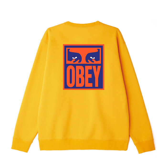 오베이 맨투맨 OBEY EYES ICON 2 CREW NECK/GOLD