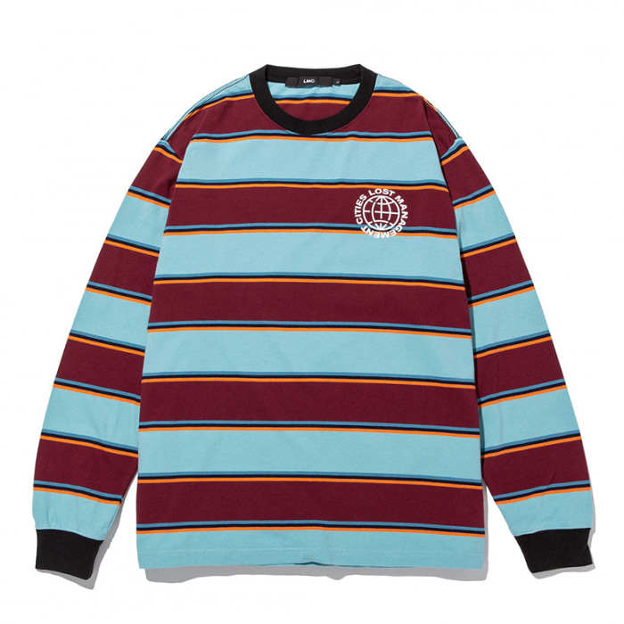 엘엠씨 롱슬리브 LMC MULTI COLOR BOLD STRIPE LONG SLV TEE burgundy