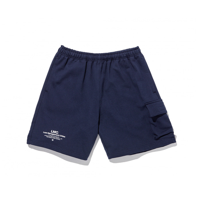 엘엠씨 반바지 LMC SIDE POCKET SWEAT SHORTS navy